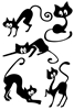 Cats Vinyl Wall Art Sheet