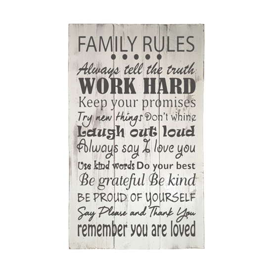 Family Rules - Wooden Pallet Sign