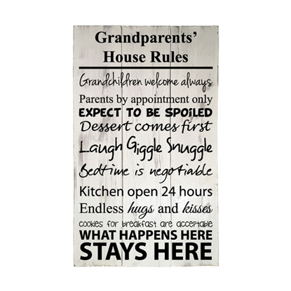 Grandparent's House Rules - Wooden Pallet Sign
