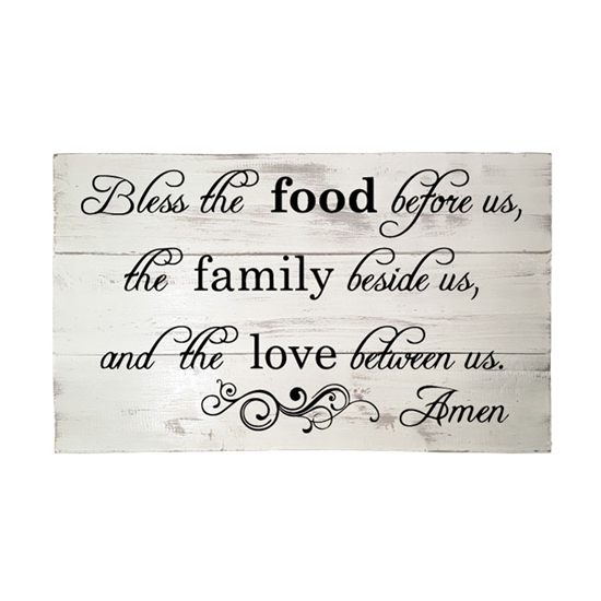 Bless the Food Before Us - Wooden Pallet Sign