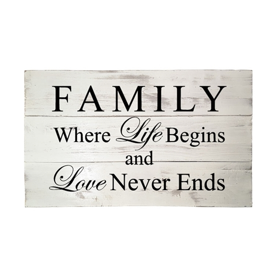 Family Where Life Begins - Wooden Pallet Sign