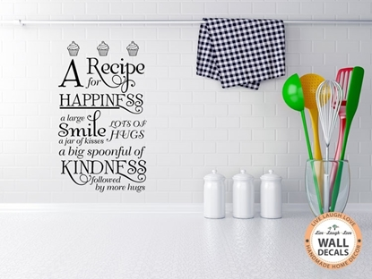 A Recipe For Happiness Vinyl Wall Art