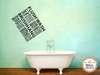Brush Flush Hang Wash Vinyl Wall Art