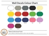 Vinyl Wall Decal Colour Chart