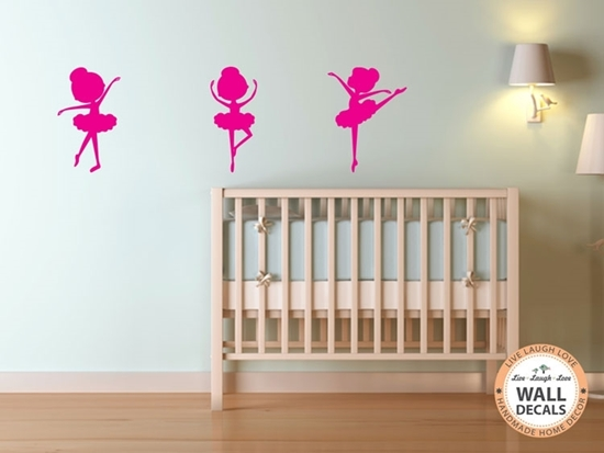 Ballerina Set Vinyl Wall Art