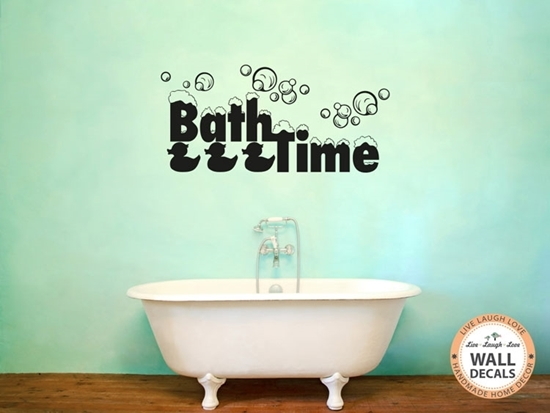 Bathtime Vinyl Wall Art