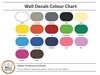 Vinyl Wall Art Colour Chart