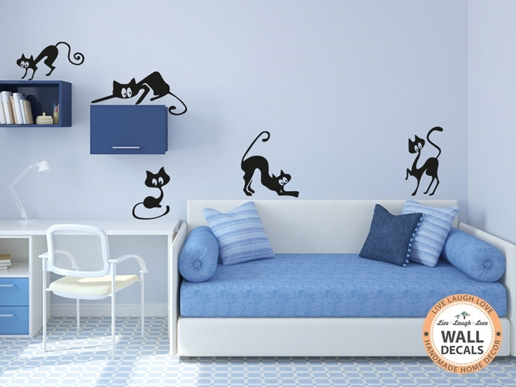 Vinyl Wall Art Part - 37: Cats Vinyl Wall Art