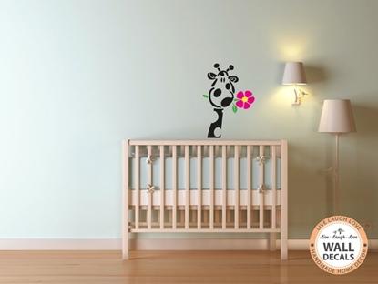 Giraffe with Flower Vinyl Wall Art