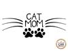 Cat Mom Vinyl Car Decal