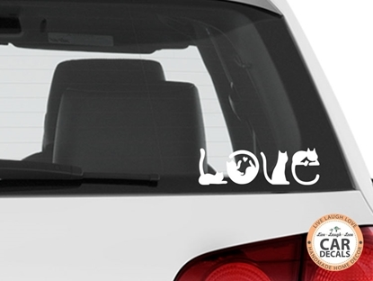 LOVE Cat Vinyl Car Decal