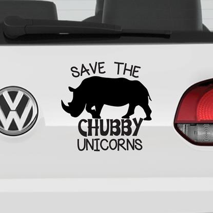 Save The Chubby Unicorns Vinyl Car Decal