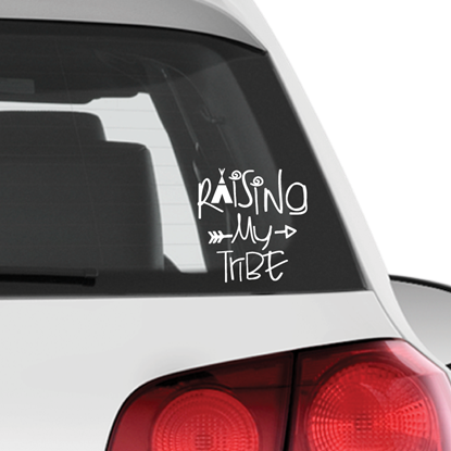 Raising My Tribe Vinyl Car Decal