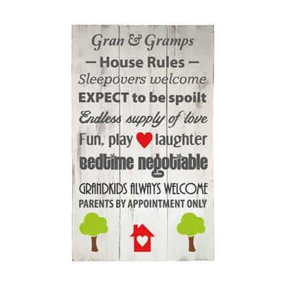 Gran & Gramps Wooden Pallet Sign