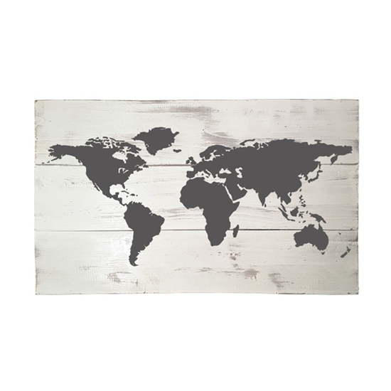 World Map Wooden Pallet Sign