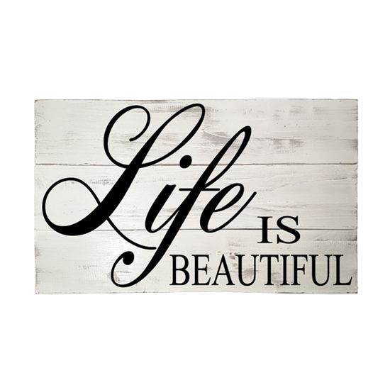 Live Is Beautiful Wooden Pallet Sign