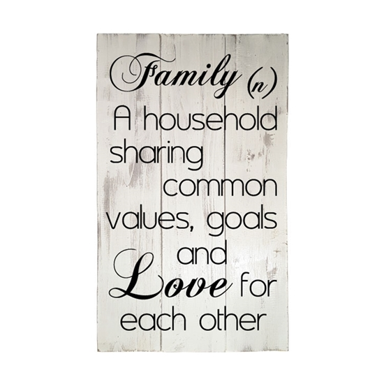 Family (n) Wooden Pallet Sign