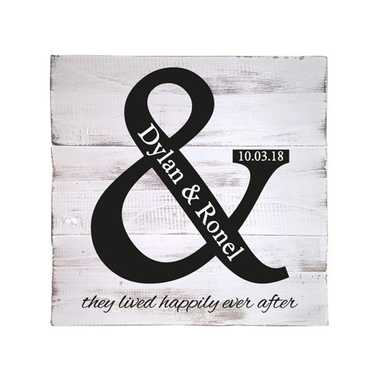 They Lived Happily Ever After Pallet Sign