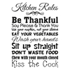 Kitchen Rules Vinyl Wall Art