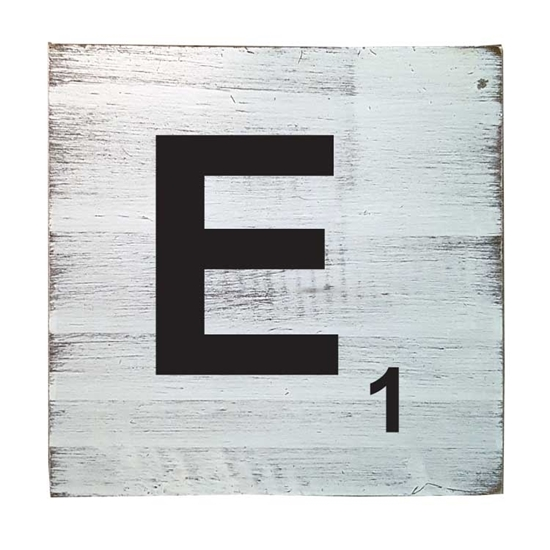 Scrabble Tile - E