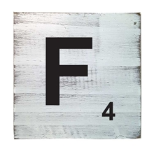 Scrabble Tile - F
