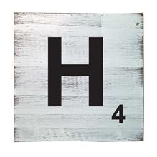 Scrabble Tile - H