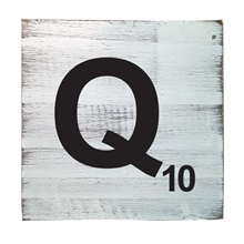 Scrabble Tile - Q
