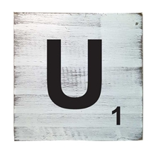 Scrabble Tile - U