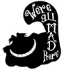 We're All Mad Here Vinyl Wall Art