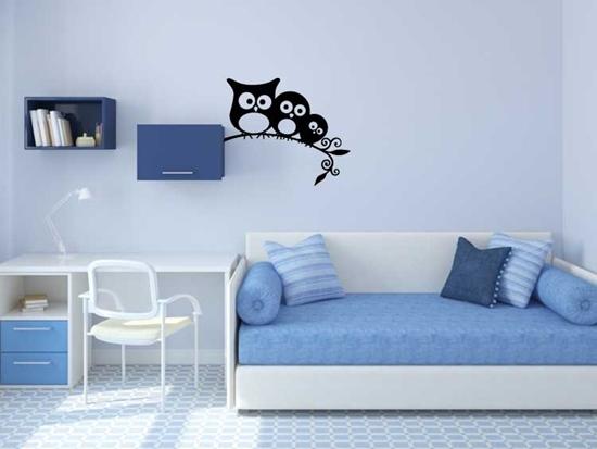 Family of Owls Vinyl Wall Art