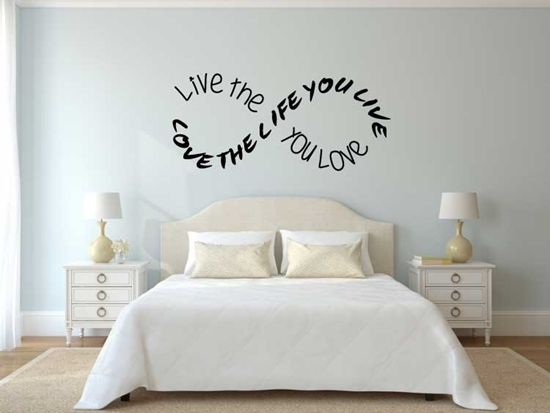 Live The Life You Love Vinyl Wall Art
