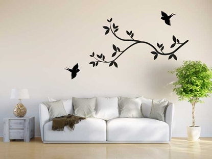 Birds with Tree Branch Vinyl Wall Art