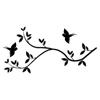 Birds with Tree Branch Vinyl Wall Art