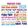 Playroom Rules Vinyl Wall Art