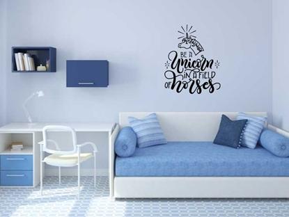 Be A Unicorn Vinyl Wall Art