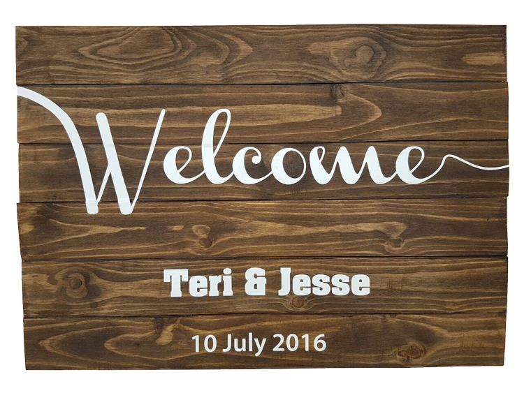 Pallet Signs Part - 44: Welcome - Wedding Pallet Sign