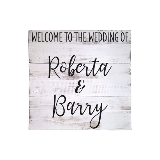 Welcome to the wedding of ... Wooden Pallet Sign