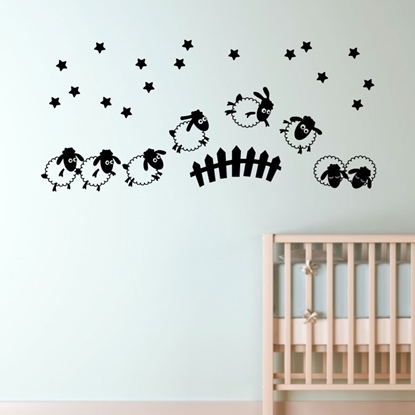 Bedtime Sheep Vinyl Wall Art