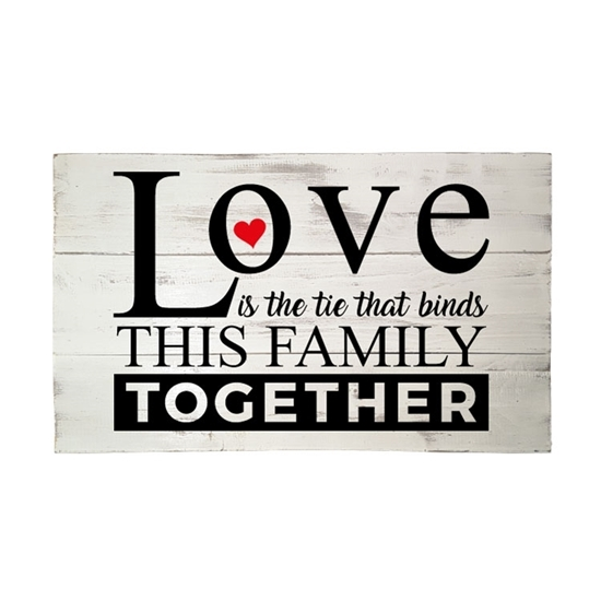 Love is the tie that binds Wooden Pallet Sign
