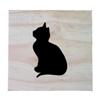 Raw Pine Scrabble Tile - Cat