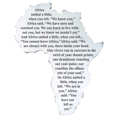 Africa Smiled Wooden Sign