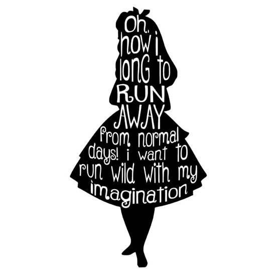 Alice in Wonderland Vinyl Wall Art