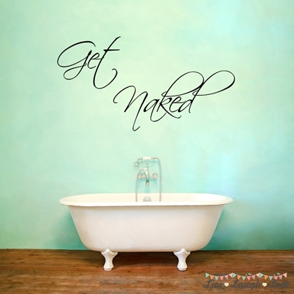 Get Naked Vinyl Wall Art