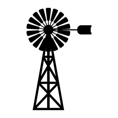 Windmill Vinyl Wall Art