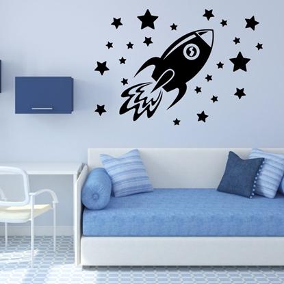 Rocket & Star Vinyl Wall Art