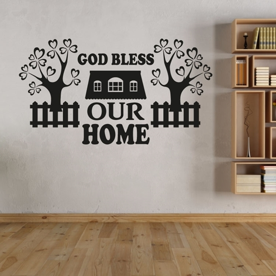 God Bless Our Home Vinyl Wall Art