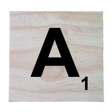 Raw Pine Scrabble A Tile