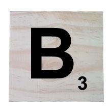 Raw Pine Scrabble Tile - B