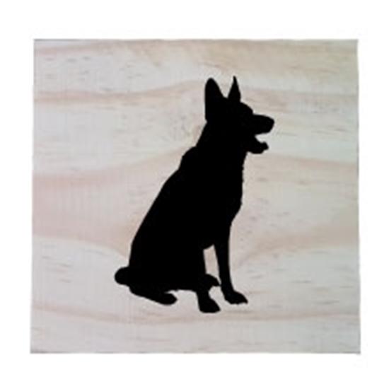 Raw Pine Scrabble Tile - German Sheppard