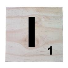 Raw Pine Scrabble Tile - I